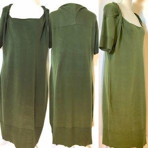 Banana republic Twisted Knot Dress, Sz XL, Green